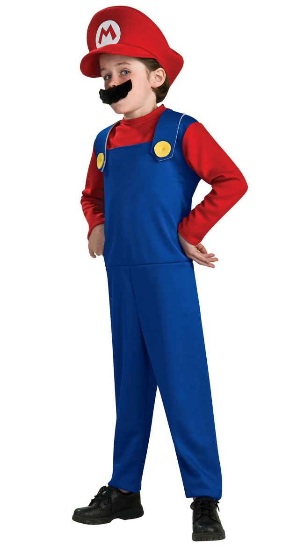 Super Mario og Luigi Kostumer Mario Kostume Børn
