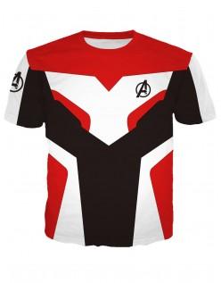 Marvel Avengers Endgame Quantum Kostume Kortærmet T-shirt Rød