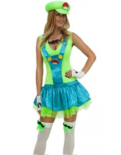 c73506b959a Grøn Blikkenslager Kostume Super Mario Kostume Kvinder