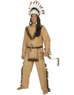 Deluxe Halloween Indianer Kostume til Mænd
