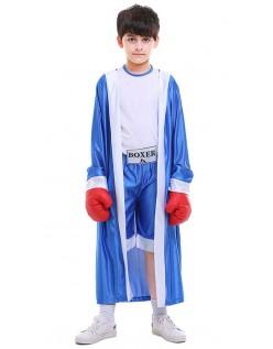 Børn Bokser Kostume Blå Børnekostume