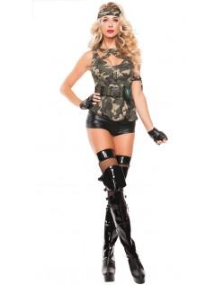 Camouflage Specialstyrker Hottie Kostume