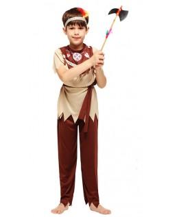 Udklædning Voksne Indianer Kostume til Dreng