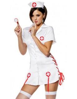 Frække Nicky Sygeplejerske Kostume