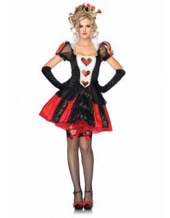 Alice i Eventyrland Blændende Mørk Dronning Kostume