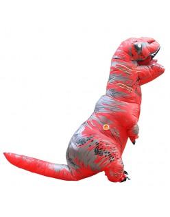 Oppustelig T-Rex Kostume til Voksne og Børn Rød