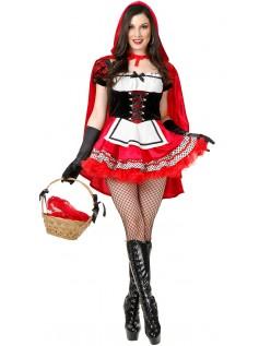 Hot Halloween Lille Rødhætte Kostume