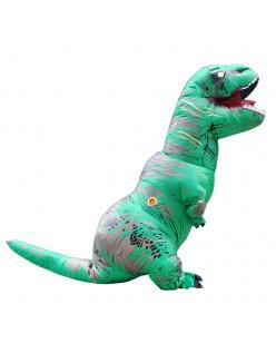 Oppustelig T-Rex Kostume til Voksne og Børn Grøn