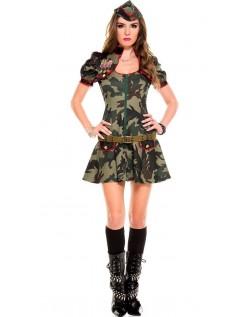 Frække Militær Uniform Grønne Hær Kostume