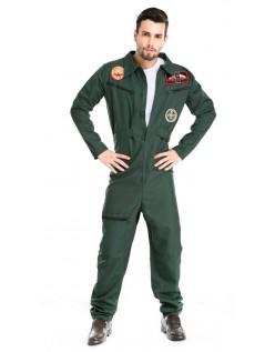 Top Gun Kostume Til Manden Pilot Jumpsuit
