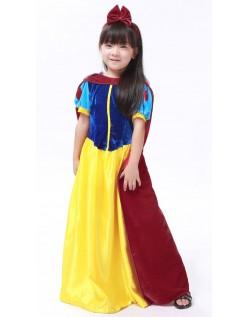 Deluxe Snehvide Kostume til Børn Prinsesse Kjole