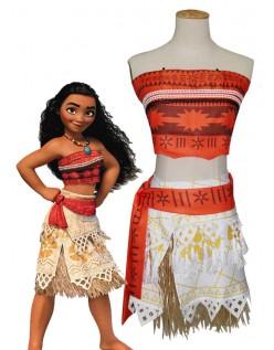 Vaiana Kostume til Piger Moana Prinsesse Kostume