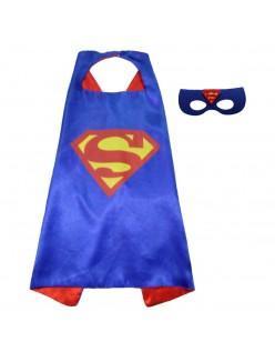 Blå Superman Kappe Superhelte Kappe Til Børn