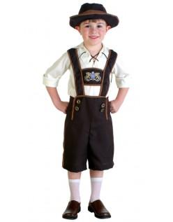 Bayersk Fyr Oktoberfest Lederhosen Kostume til Børn