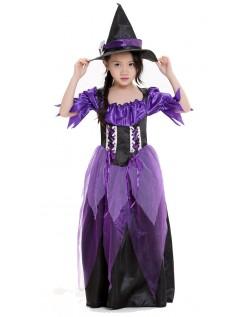 Glamourøse Lilla Hekse Kostume Børn
