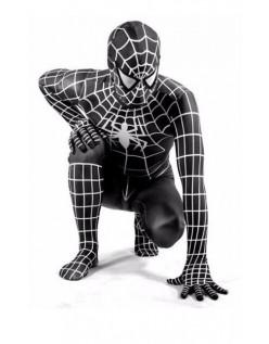 Klassisk Lycra Spiderman Kostume Til Voksne Sort