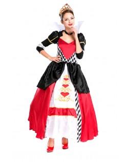 Elegant Deluxe Hjerter Dronning Kostume