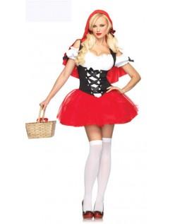 Halloween Lille Rødhætte Kostume til Voksne