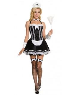 Frække Halter Fransk Stuepige Kostume