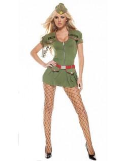Større Besvær Frække Militær Kostume