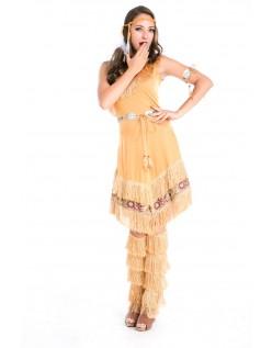 Deluxe Halloween Indianer Kostume til Kvinder