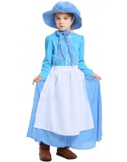 Børn Kolonial Kostume Pige Prairie Pioner Kostume
