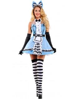 Sofistikeret Wonderland Alice Kostume