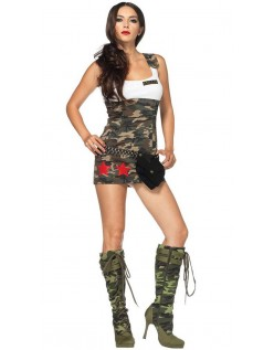 Bekæmpe Cutie Camouflage Militære Kostume