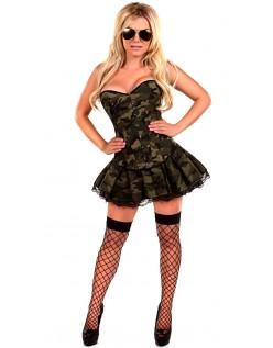 Korsetter Frække Army Pige Kostume