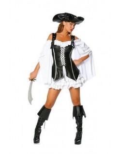 Halloween Kostumer Sort og Hvid Pirat Kostume