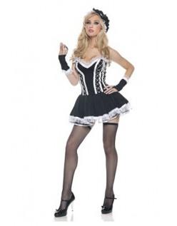 Sort Fransk Stuepige Kostume