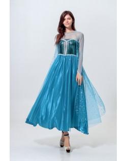 Paillet Frost Prinsesse Elsa Kjole Voksne
