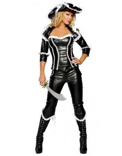 Frækt Deluxe Pirat Skat Kostume