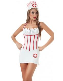 Frække Hoved Sygeplejerske Kostume Til Voksne