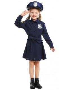Piger Legetid Politibetjent Kostume Til Børn