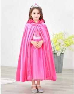 Rød Elsa Frost Kjole til Børn Kappe Med Hætte