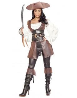 Fremragende Læder Swashbuckler Pirat Kostume