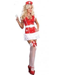 Vitale Tegn Frække Sygeplejerske Kostume