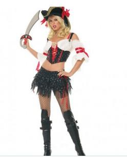 Frækt Halloween Kostumer Marauder Pirat Kostume