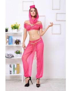 Rød Prinsesse Kostume Mavedanser Kostume