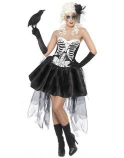 Skelly Von Fælde Skelet Kostume til Halloween