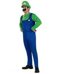 Super Mario Bros Luigi Kostume til Voksne