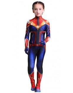 Børn Kaptajn Marvel Kostume Superhelt Kostumer Piger