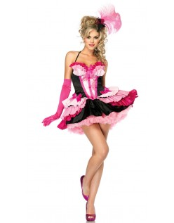 Flirtende Flamingo Pige Can Can Kostume