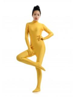 Lycra Spandex Skinsuits til Dame Second Skin Kostume Gul