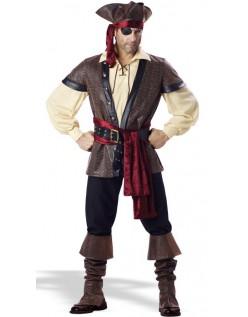 Rustik Elite Pirat Kostume Mænd