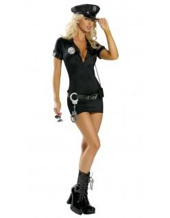 Frække Sort Trafik Politi Kostume
