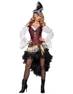 Frække Havs Pirat Kostume Dame