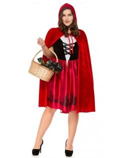 Store Størrelser Lille Rødhætte Kostume Til Halloween