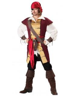 Swashbuckler Pirat Kostume Til Mænd